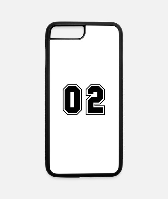 Numbers iPhone Cases - College jersey letter 02 - iPhone 7 & 8 Plus Case white/black