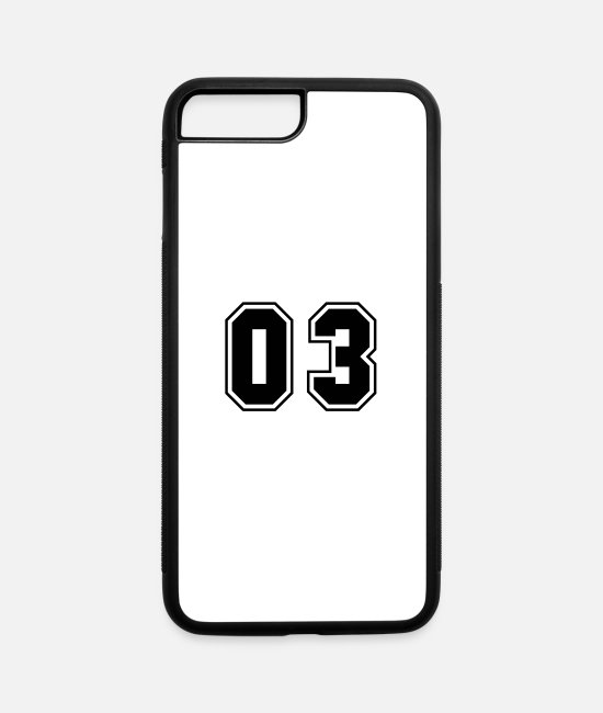 Numbers iPhone Cases - College jersey letter 03 - iPhone 7 & 8 Plus Case white/black