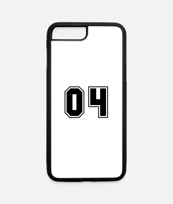 Numbers iPhone Cases - College jersey letter 04 - iPhone 7 & 8 Plus Case white/black