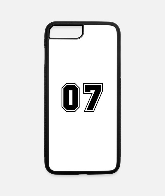 Numbers iPhone Cases - College jersey letter 07 - iPhone 7 & 8 Plus Case white/black