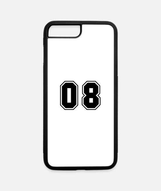 Numbers iPhone Cases - College jersey letter 08 - iPhone 7 & 8 Plus Case white/black