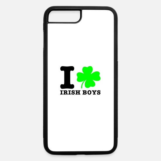 Boys iPhone Cases - i love irish boys - iPhone 7 & 8 Plus Case white/black