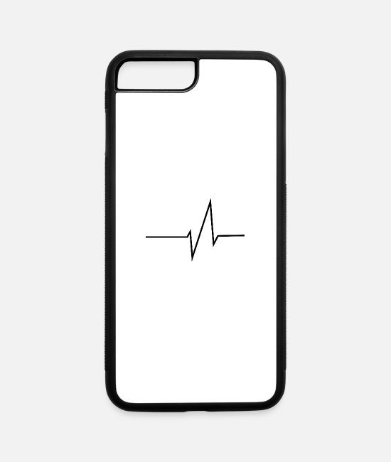 Bass iPhone Cases - Heartbeat - iPhone 7 & 8 Plus Case white/black