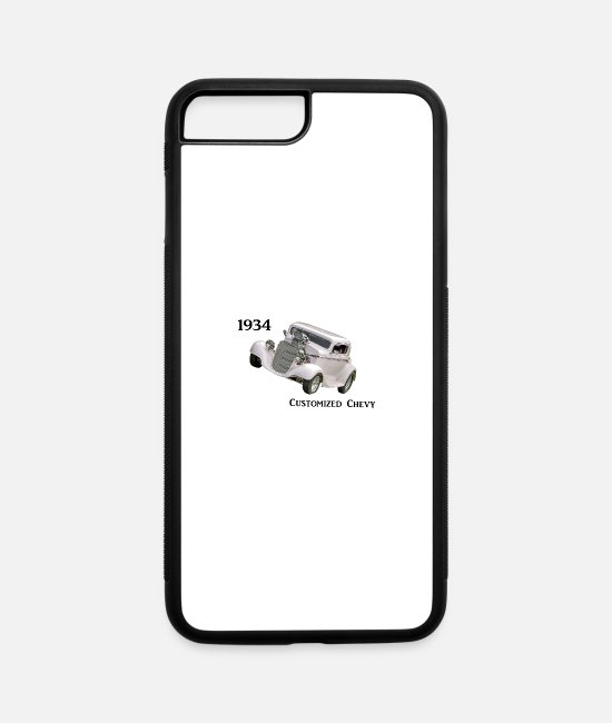 Vehicle iPhone Cases - 1934 customized Chevy - iPhone 7 & 8 Plus Case white/black