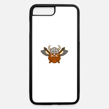 Flat Viking Mascot With Helmet And Axes - iPhone 7 & 8 Plus Case