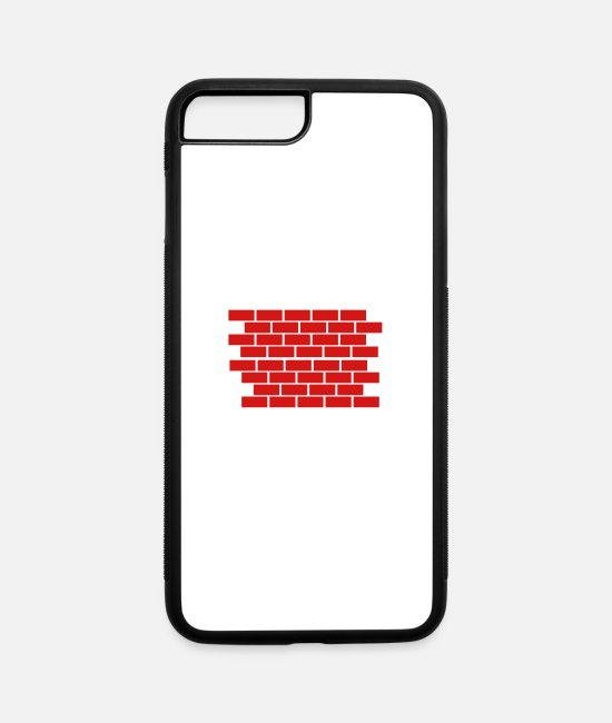 Wall iPhone Cases - Brick Wall - iPhone 7 & 8 Plus Case white/black