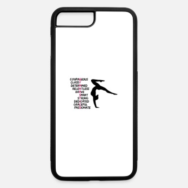Gymnast Gymnast & motivational gymnastics text - iPhone 7 & 8 Plus Case