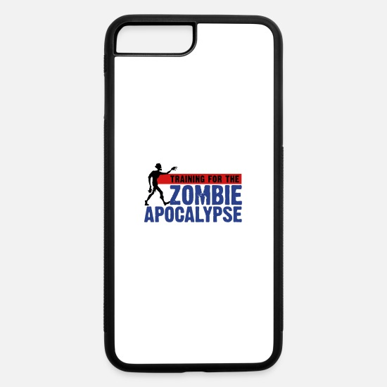 Gym iPhone Cases - Zombie Apocalypse Gym Motivation - iPhone 7 & 8 Plus Case white/black