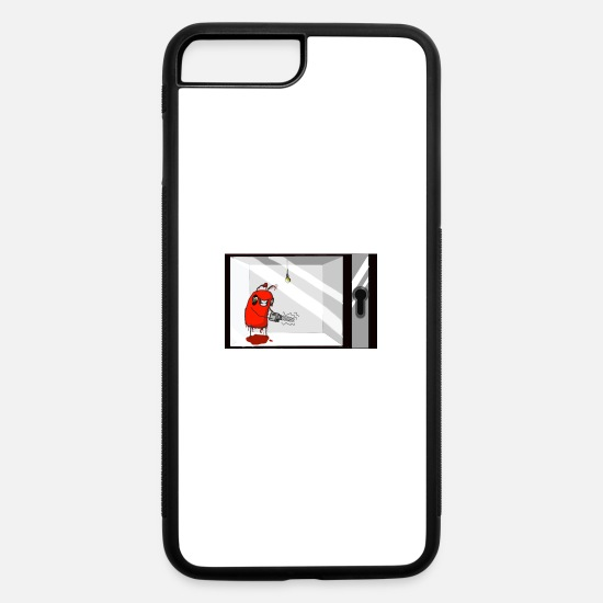 Box iPhone Cases - Naughty Figbe in a box - iPhone 7 & 8 Plus Case white/black