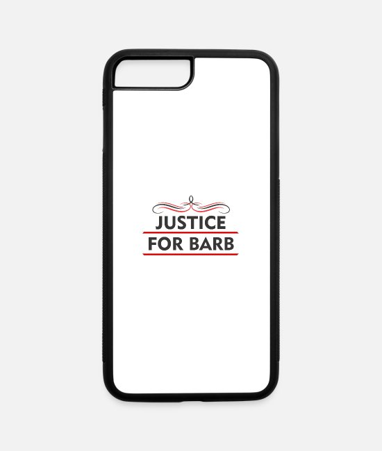 Viking iPhone Cases - justice for barb - iPhone 7 & 8 Plus Case white/black