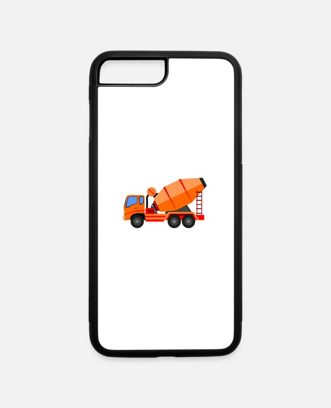 New iPhone Cases - concrete mixer - iPhone 7 & 8 Plus Case white/black