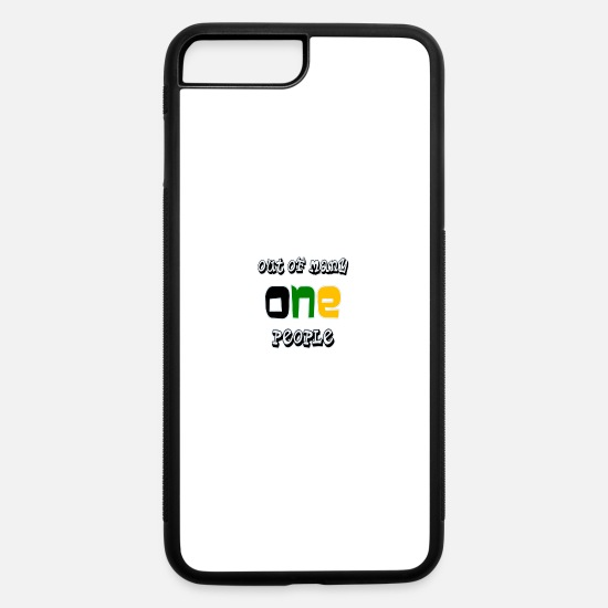 Art iPhone Cases - Jamaican Motto BAC - iPhone 7 & 8 Plus Case white/black