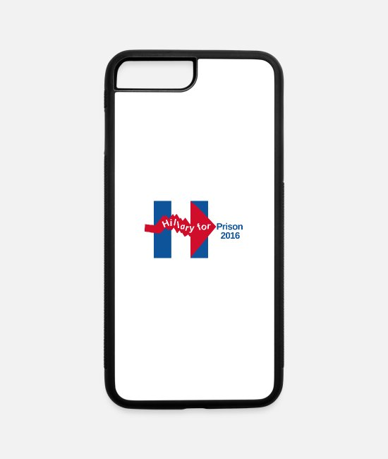 Politician iPhone Cases - Crooked Hillary For Prison 2016 Mug - iPhone 7 & 8 Plus Case white/black