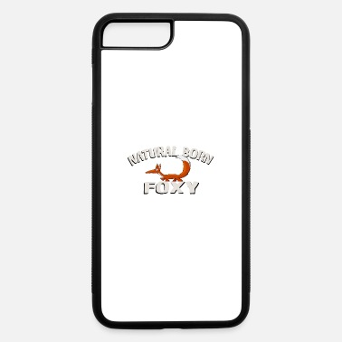 Wildlife natural born foxy fox illustration cartoon gift - iPhone 7 & 8 Plus Case