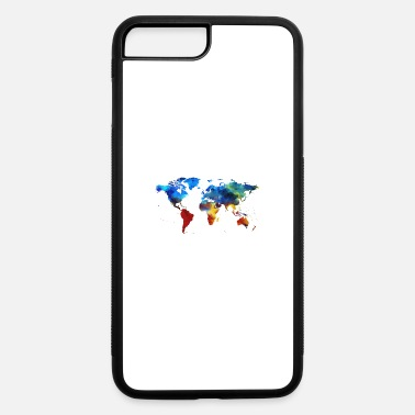Map Colourful World Map - iPhone 7 & 8 Plus Case