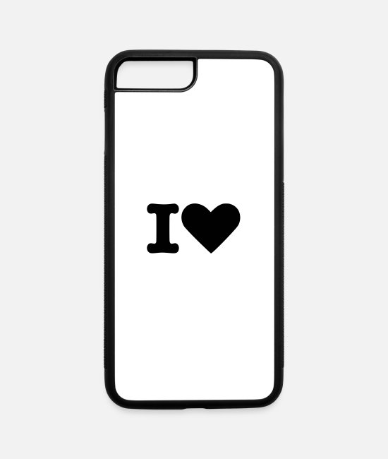 Heart iPhone Cases - I Love - iPhone 7 & 8 Plus Case white/black