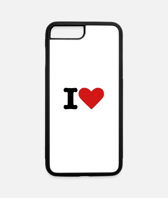 Heart iPhone Cases - I Heart - iPhone 7 & 8 Plus Case white/black