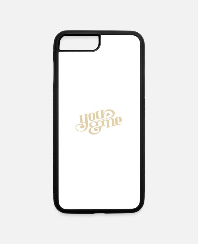 Write iPhone Cases - you & me - iPhone 7 & 8 Plus Case white/black