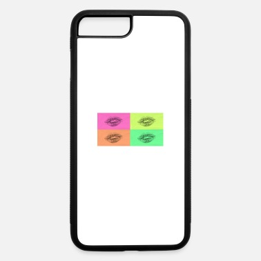 Lipgloss Popart kissable mouth colorful sexy flirt gift - iPhone 7 & 8 Plus Case
