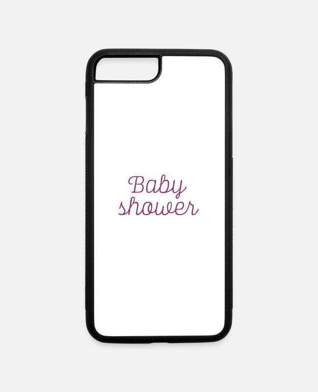 Lilac iPhone Cases - Purple Baby Shower - iPhone 7 & 8 Plus Case white/black