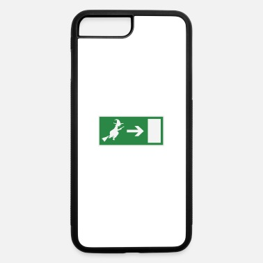 Emergency Exit Witch emergency exit Halloween - iPhone 7 & 8 Plus Case