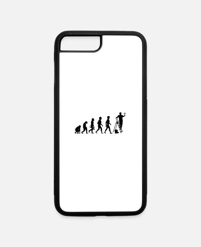 Artist iPhone Cases - maler anstreicher tapezierer farbrolle weisser1 - iPhone 7 & 8 Plus Case white/black
