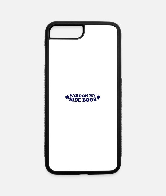 Side iPhone Cases - Pardon my side boob - iPhone 7 & 8 Plus Case white/black