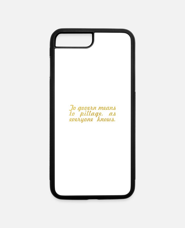 "Government iPhone Cases - To govern... ""Albert Camus"" Inspirational Quote - iPhone 7 & 8 Plus Case white/black"