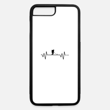 Stick Heartbeat - ice hockey, mask, skates, stick, puck - iPhone 7 & 8 Plus Case