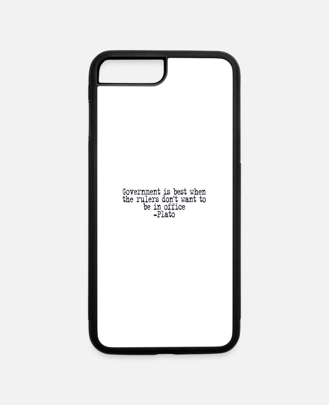 Vote iPhone Cases - Plato on Government - iPhone 7 & 8 Plus Case white/black