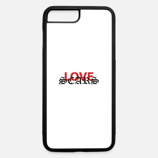 Pain iPhone Cases - love scars - iPhone 7 & 8 Plus Case white/black