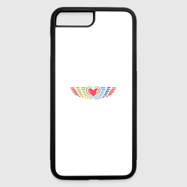 Heart With Wings Heart with wings, rainbow style, peace. - iPhone 7 Plus/8 Plus Rubber Case