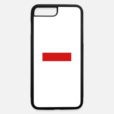Quadrat Red Stripe Quadrat - iPhone 7 Plus/8 Plus Rubber Case