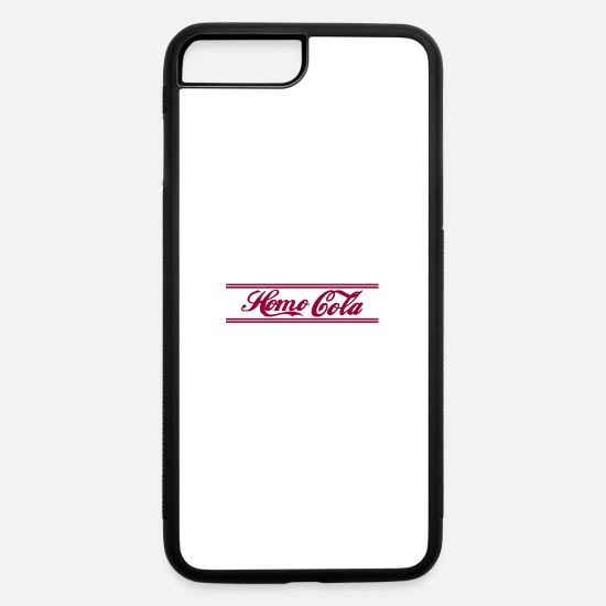 Gay iPhone Cases - homo colo stripe - iPhone 7 & 8 Plus Case white/black