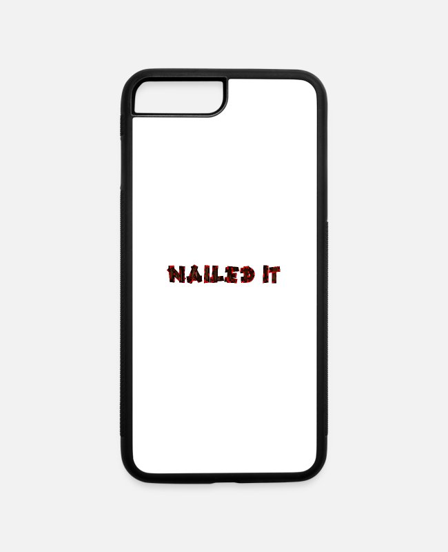 Office iPhone Cases - Nailed it - iPhone 7 & 8 Plus Case white/black