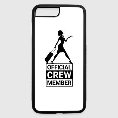 Flight Attendant OFFICIAL CREW MEMBER - iPhone 7 Plus/8 Plus Rubber Case