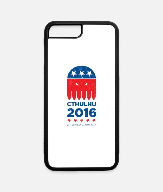 Distressed iPhone Cases - Vote CTHULHU 2016 - iPhone 7 & 8 Plus Case white/black