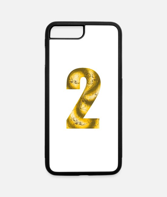 Numero iPhone Cases - number two - iPhone 7 & 8 Plus Case white/black