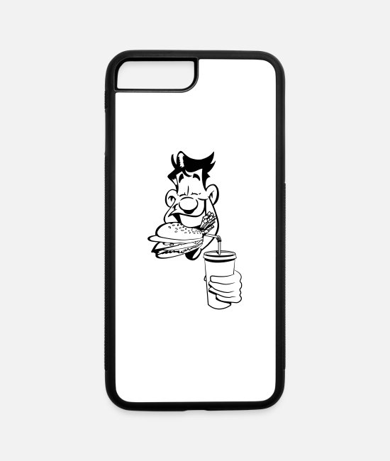 Bbq iPhone Cases - fast food hunger witty - iPhone 7 & 8 Plus Case white/black