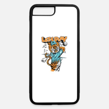Comic Tiger-plays-golf-comic strip - iPhone 7 Plus/8 Plus Rubber Case
