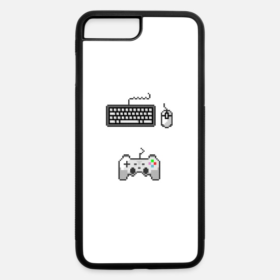 Gift Idea iPhone Cases - Gamers Unite Keyboard Mouse Controller Console PC - iPhone 7 & 8 Plus Case white/black