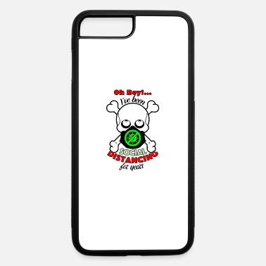 Bone Oh Boy Social Distancing Skull w Black Chinstrap - iPhone 7 & 8 Plus Case