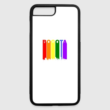 Bogota Bogota Colombia Skyline Rainbow LGBT Gay Pride - iPhone 7 Plus/8 Plus Rubber Case