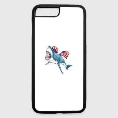 Shark Great White 4th Of July - iPhone 7 Plus/8 Plus Rubber Case