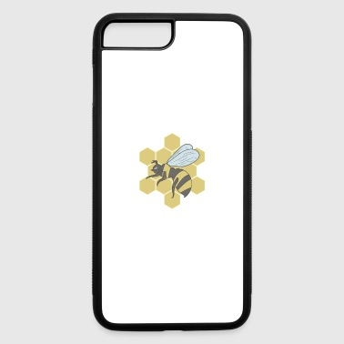 Bee in honeycomb - iPhone 7 Plus/8 Plus Rubber Case