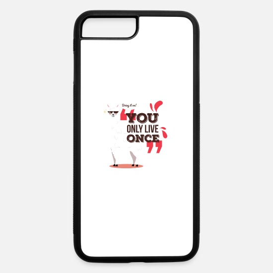 Birthday iPhone Cases - Bring it on Alpaca / Graphic Art Design - iPhone 7 & 8 Plus Case white/black