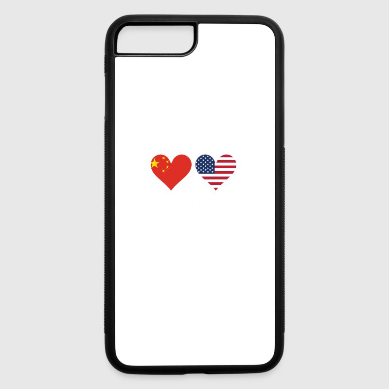 Chinese American Flag Hearts By Awesome Shirts Spreadshirt