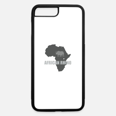 Plus African Rhino with african map - iPhone 7 Plus/8 Plus Rubber Case