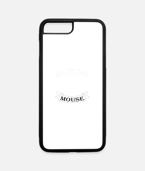 Mouse Teeth iPhone Cases - Mouse - iPhone 7 & 8 Plus Case white/black