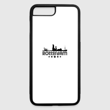 Retro Rotterdam Skyline - iPhone 7 Plus/8 Plus Rubber Case